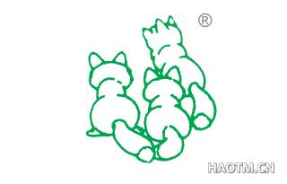 三个狐狸图形