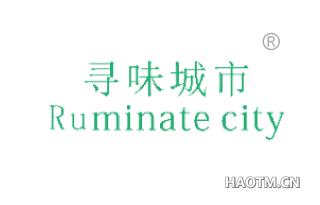 寻味城市 RUMINATECITY