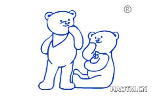 二个小熊图形