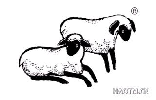 二只羊图形