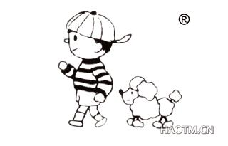 小孩与小狗图形第25类商标转让 好标网