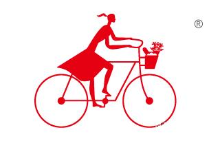 美女骑单车图形