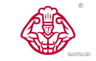 肌肉男厨师图形