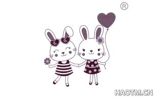 卡通兔子图形