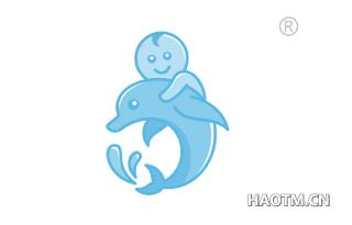 海豚娃娃图形