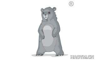 站立熊图形