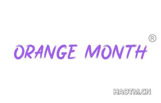 ORANGE MONTH