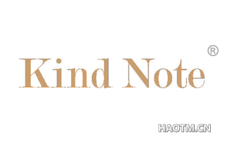 KIND NOTE