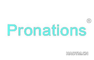 PRONATIONS