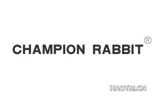 CHAMPION RABBIT