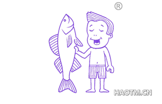 人与鱼图形