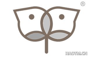 小鸟叶芽图形