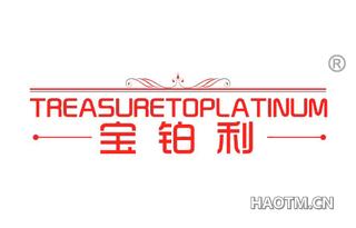 宝铂利 TREASURETOPLATINUM